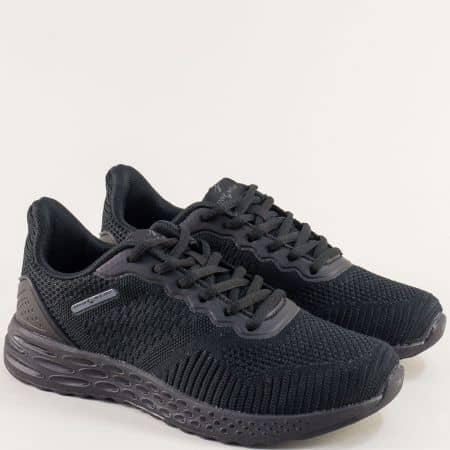 Черни дамски маратонки на равно ходило- MAT STAR 006019ch