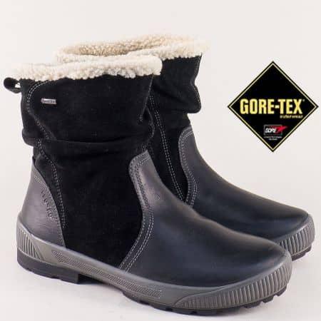Черни дамски боти на нисък ток с Gore-Tex мембрана 0060400ch
