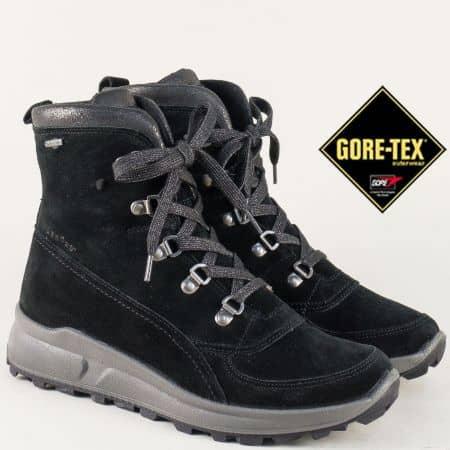 Велурени дамски боти Legero с Gore- Tex мембрана на равно ходило  0064100vch