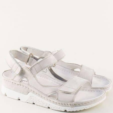 Сиви дамски сандали на ортопедично ходило на Berkemann 01158sv