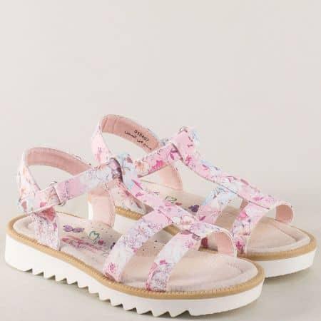 Розови детски сандали на комфортно ходило 015407rz