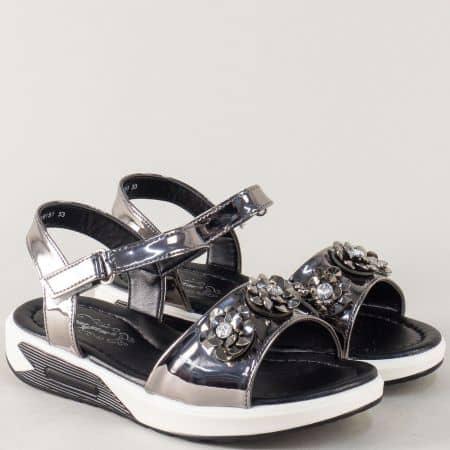 Бронзови детски сандали на комфортно ходило 018151brz