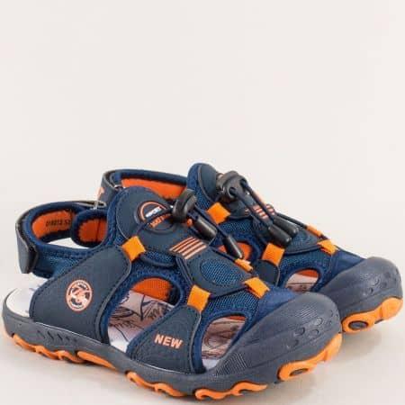 Тъмно сини детски сандали с кожена стелка- MAT STAR 018212s