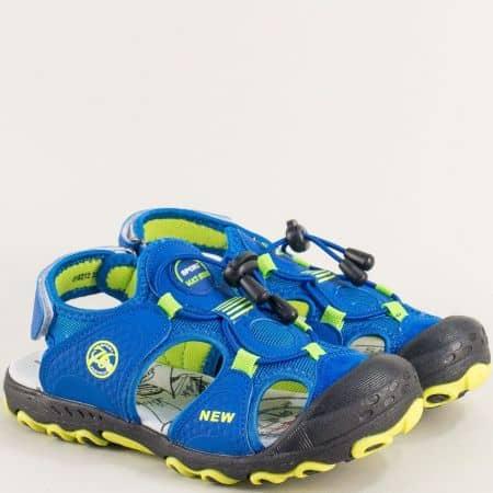Сини детски сандали със стелка от естествена кожа 018212sz