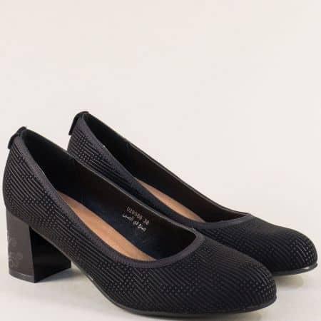 Черни дамски обувки на стабилен среден ток- MAT STAR 028586ch