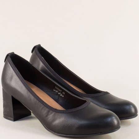 Дамски обувки в черен цвят на среден ток- MAT STAR 028587ch