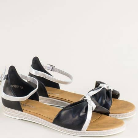 Черни дамски сандали със затворена пета- MAT STAR 029027ch