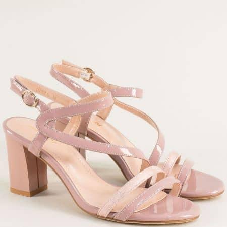 Дамски сандали в розов цвят на висок ток- MAT STAR 029214lrz