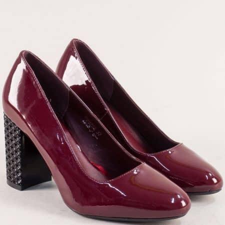 Дамски обувки на висок ток в цвят бордо- MAT STAR 029252lbd