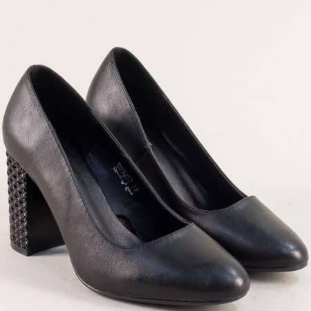Дамски обувки на висок ток в черен цвят- MAT STAR 029253ch