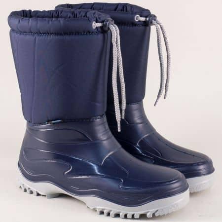 Детски ботуши на грайферно ходило в син цвят 0368-40s