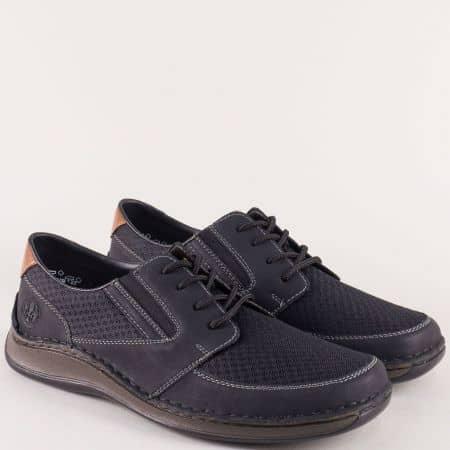 Анатомични мъжки обувки с кожена стелка в черен цвят 05239ch