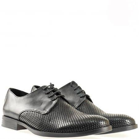Удобни и стилни мъжки обувки Rieker Antistress с връзки, изработени от 100% естествена кожа 0525ch