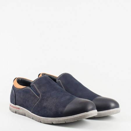 Фешън модел ежедневни мъжки обувки без връзки, в модерен син цвят 05759101ns