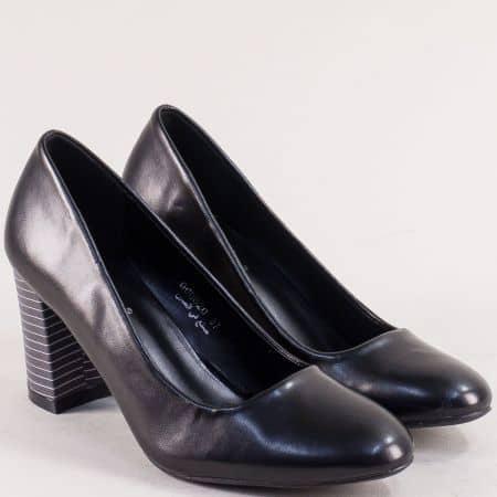 Черни дамски обувки на ефектен висок ток- MAT STAR 060020ch