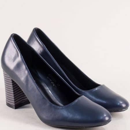 Дамски обувки на висок ток в син цвят- MAT STAR 060020s
