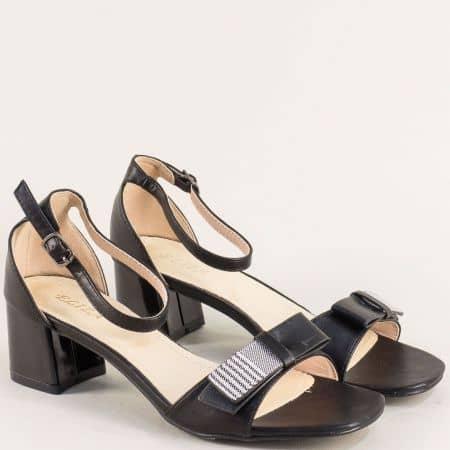 Черни дамски сандали със затворена пета- ELIZA 101126ch
