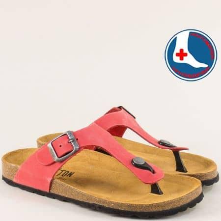 Розови дамски чехли с лента между пръста- PLAKTON 101671nrz