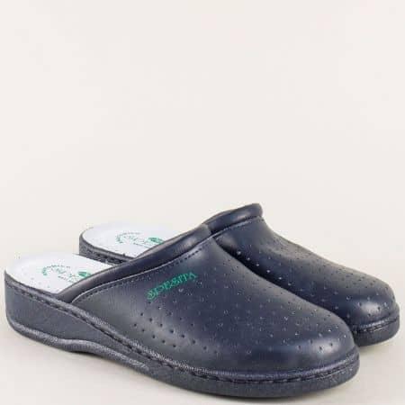 Мъжки анатомични чехли , тип медицинско сабо от естествена кожа 10353s