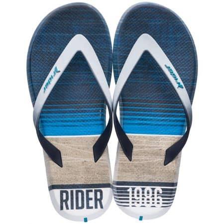 Мъжки джапанки в бяло и синьо- RIDER 1071921192
