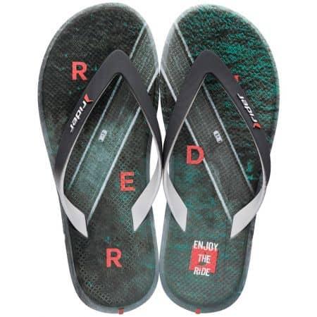 Мъжки джапанки в зелено ичерно- RIDER 1071924745