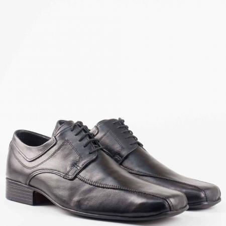 Елегантни мъжки обувки от естествена кожа на български производител 10741006ch