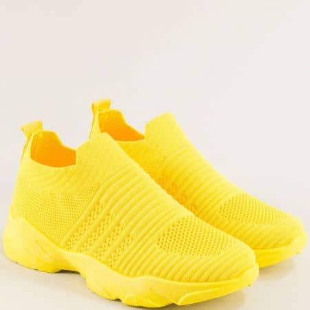 Жълти дамски спортни обувки на олекотено ходило 1107-40j