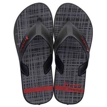 Мъжки джапанки в сиво, червено и черно- RIDER 1107302049