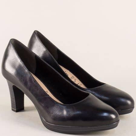 Дамски обувки на висок ток и платформа в черен цвят 1122410ch