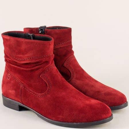 Червени велурени дамски боти Tamaris 1125005vbd