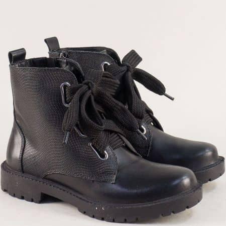 Зимни дамски обувки от естествена кожа на Gido 1170ch