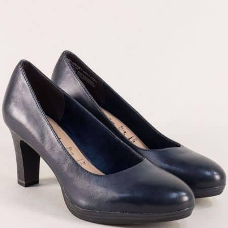 Тъмно сини дамски обувки на висок ток с Anti-shock  12241022s