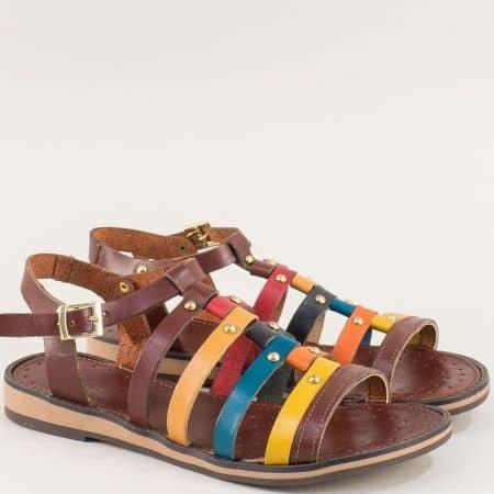 Дамски сандали в жълто, синьо, червено, кафяво и оранж 12241713kps