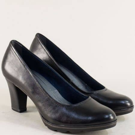 Кожени дамски обувки с Memory пяна в черен цвят 122425ch