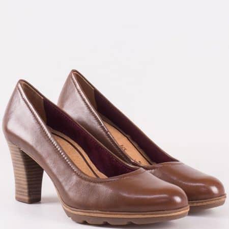 Кафяви дамски обувки Tamaris със стелка с мемори пяна 122425k
