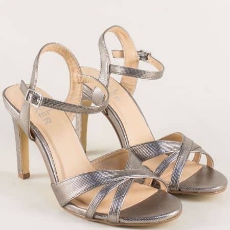 Елегантни дамски сандали на висок ток 128020brz