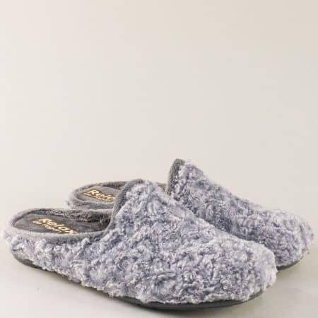 Дамски домашни пантофи в сив цвят- RELAX 1342-40sv