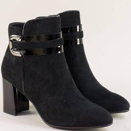 Черни дамски боти с декорация на висок ток- Eliza 13691422nch