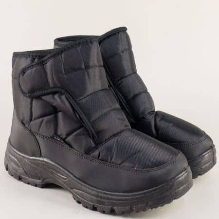 Мъжки апрески в черен цвят на комфортно ходило 138027-45ch