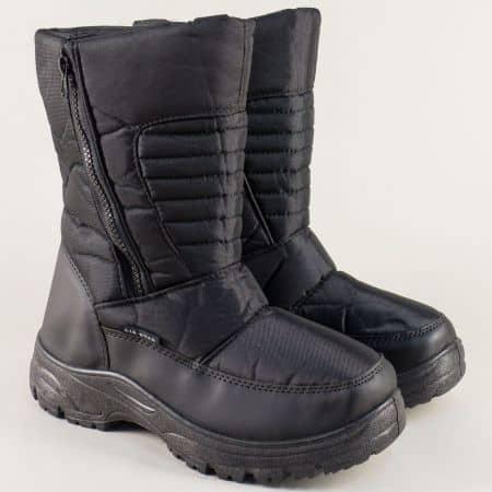 Черни мъжки апрески на комфортно ходило  138060-45ch