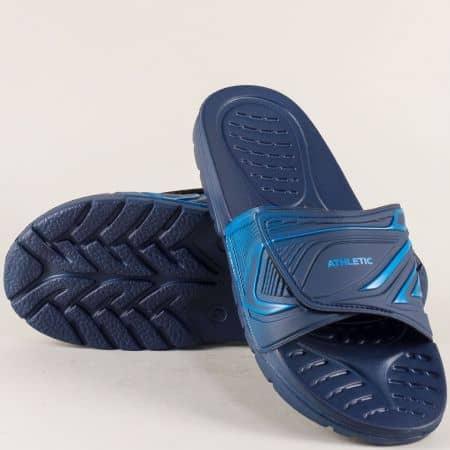 Сини мъжки джапанки с цяла лента 40041564s
