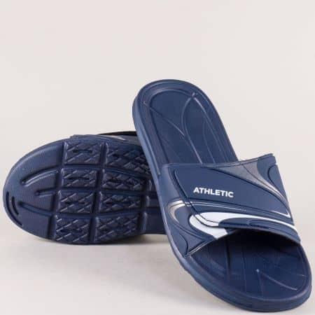 Тъмно сини мъжки джапанки с велкро лента 14152520s