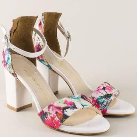 Дамски сандали в бежово, зелено, червено, розово и бяло 144ps
