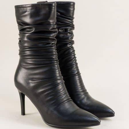 Дамски боти на елегантен висок ток в черен цвят- Eliza 14912584ch