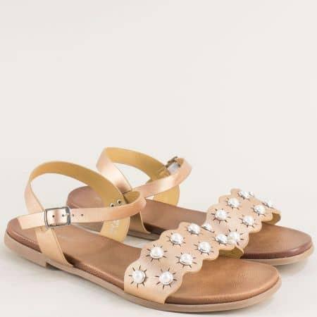 Дамски сандали в розов цвят на равно ходило- MAT STAR 150081rz