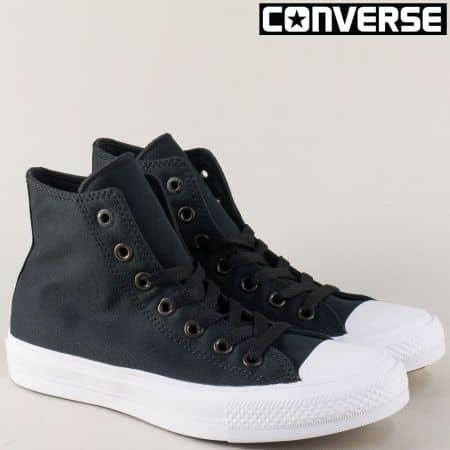 Черни дамски кецове на бяло ходило- CONVERSE 150143-40ch