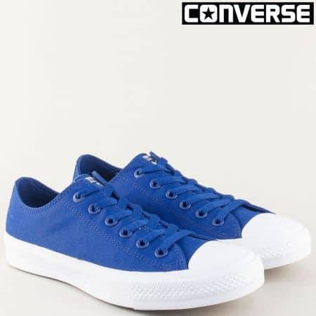 Сини мъжки кецове с връзки- CONVERSE 150152s