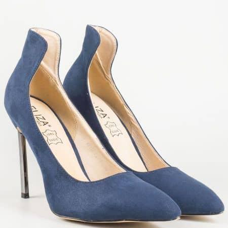 Сини дамски обувки с елегантна визия 1522805s