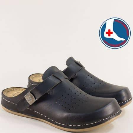 Черни дамски чехли с перфорация с Flex Sole Technology 154063ch