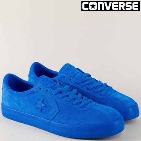 Мъжки кецове от естествен велур в син цвят- CONVERSE 155782-45vs